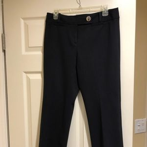 Flat front trousers. Black.
